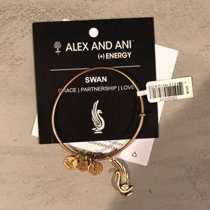 NWT Alex and Ani Swan Bracelet
